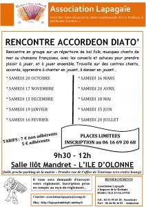Flyer rencontre accordéon diato